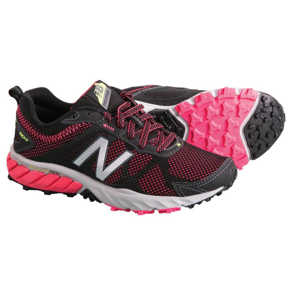 New Balance Women's WT610V5 Trail Shoe, Black/Pink, 9.5 D US