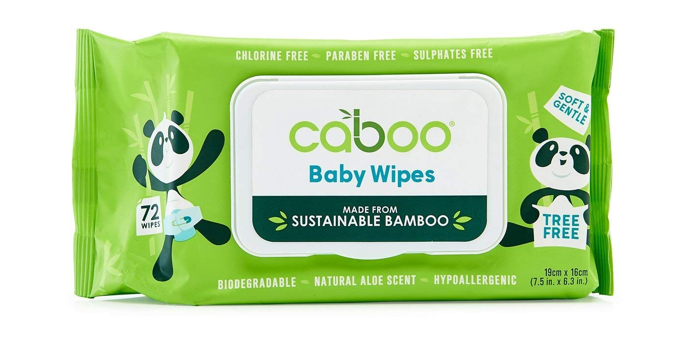 Caboo Baby Wipes 72 Ct Pack of 16