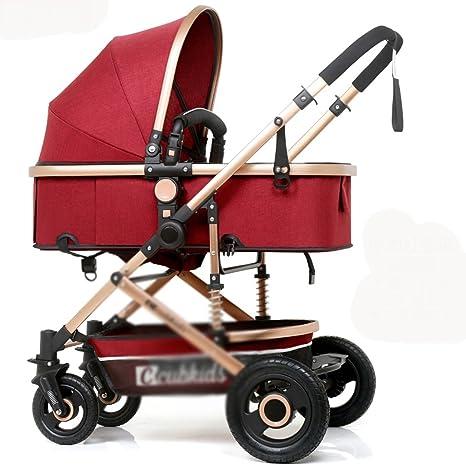 &Carrito de bebé Carro de bebé carro de mano cochecito clásico, (Color : #