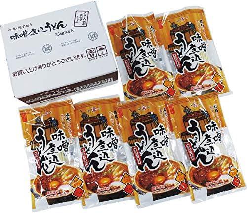石丸製麺 半生味噌煮込うどん(6袋)