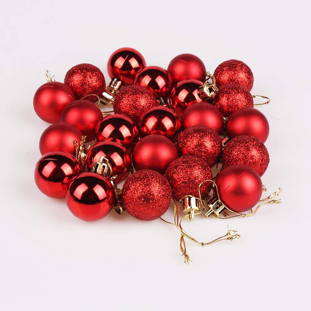 lightclub Glittering Baubles Balls Christmas Tree Ornament Xmas Party Hanging Decoration Black