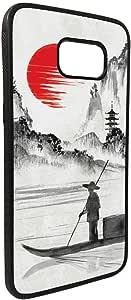 كفر جالكسي 7 ايدج  بتصميم لوحة فنية - الغروب في الصين