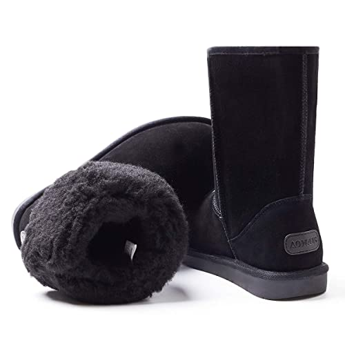 7f64f993e75 Amazon.com | AOMAIS Women's Winter Snow Boots Fur Lined Mid Calf and ...
