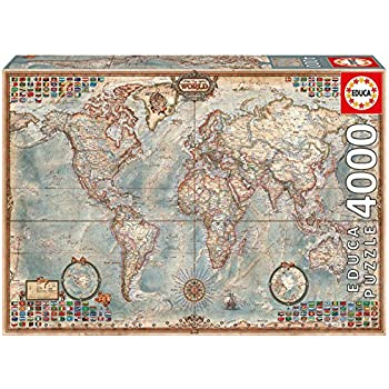 Amazon ravensburger world map jigsaw puzzle 2000 piece 4000 piece puzzle the world map gumiabroncs Images