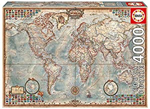 4 000 piece puzzle the world map toys games. Black Bedroom Furniture Sets. Home Design Ideas