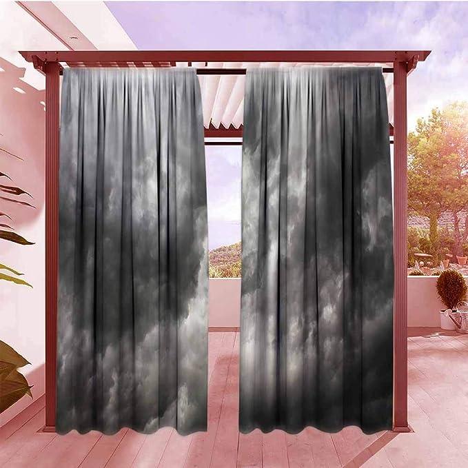 AndyTours - Cortina para Puerta corredera, diseño geométrico con Rayas Interiores, Color Gris: Amazon.es: Jardín