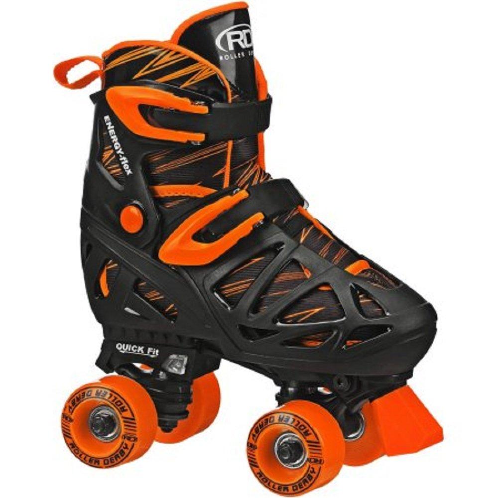 Roller skates for plus size - Roller Derby Rd Quad Boy Roller Skates Black Orange Medium Size 3 6