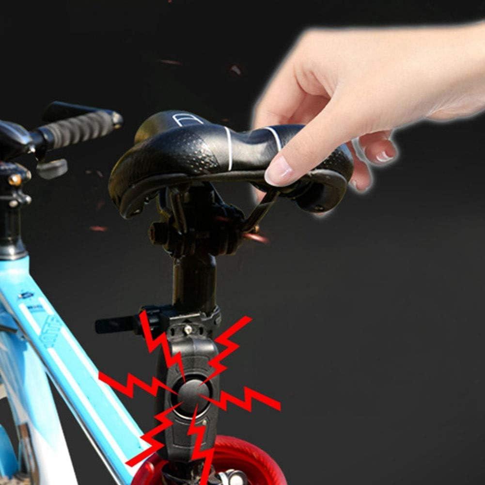 Tbest Allarme Senza Fili della Bicicletta Bici Horn USB Che Carica Sicurezza della Bici Forte Allarme Acustico del Corno Telecomando antifurto Accessorio della Bicicletta