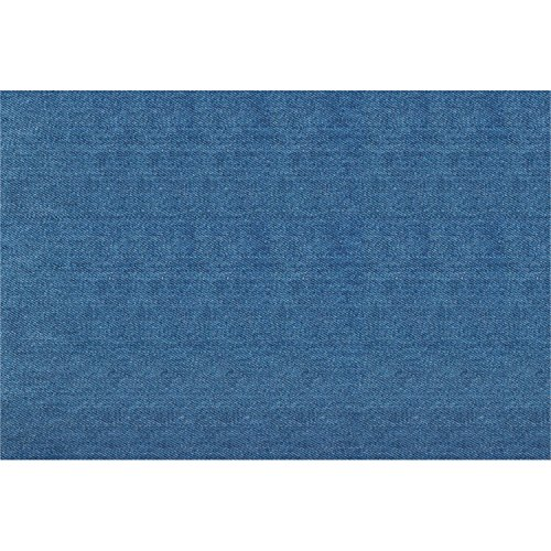 Club Pack of 144 Decorative Blue Denim Print Table Top Paper Place-Mats - 11