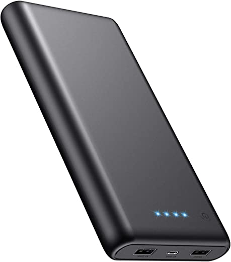 iPosible Power Bank 24800mAh, Caricabatterie Portatile 2 USB Porte, Batteria...