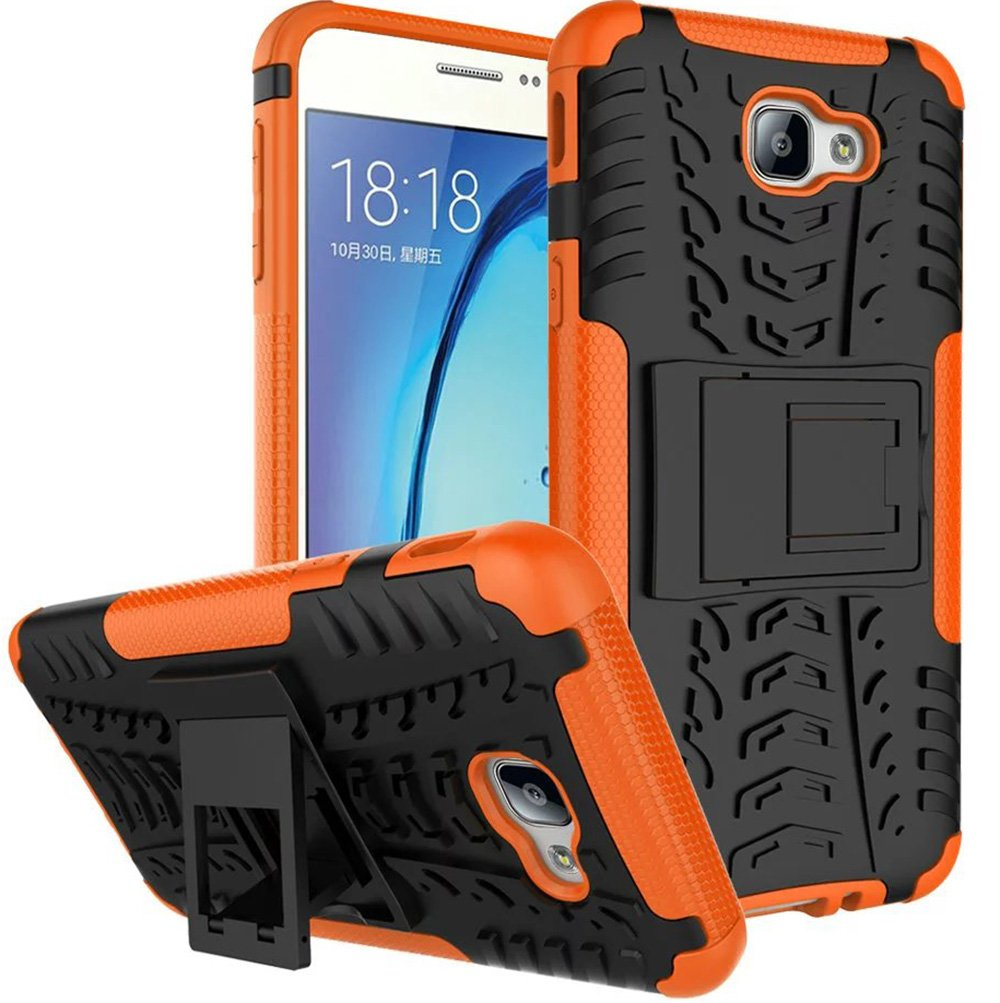 Nnopbeclik® [Coque Samsung Galaxy J7 Prime 2016 / Coque Samsung Galaxy ON7] Armor Séries 2in1 Dual Layer Rigide Backcover Incassable case pour Coque Samsung Galaxy J7 Prime / ON7 (5.5 Pouce) Protection Housse Antiglisse Anti-Scratch Etui - [Bleu] ZYT022701