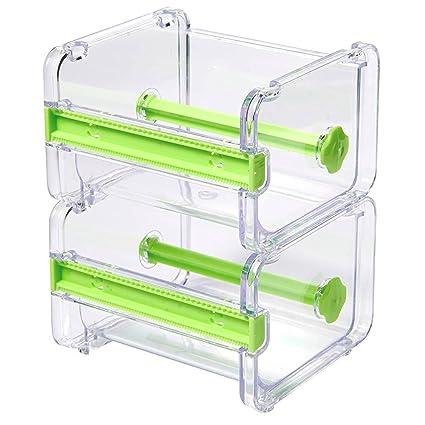 2 Pack Desktop Tape Dispenser Washi Cutter Roll Organizer Holder