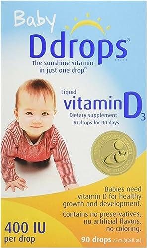 Ddrops 婴儿维生素D3滴剂400IU 90滴*2