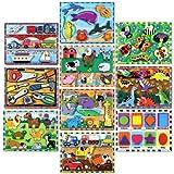 Melissa & Doug Fresh Start Wood Chunky Puzzles Set C, 9 x 12 in, Set of 10