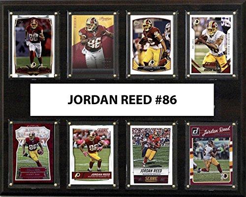 (C&I Collectables NFL Washington Redskins Men's Jordan Reed 8-Card Plaque, Brown)
