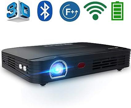 Amazon.com: Portátil proyector de cine en casa proyector ...