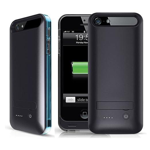 3 opinioni per Cover Batteria iPhone 5s, iFans® [Certificata MFi Apple] Custodia con Batteria