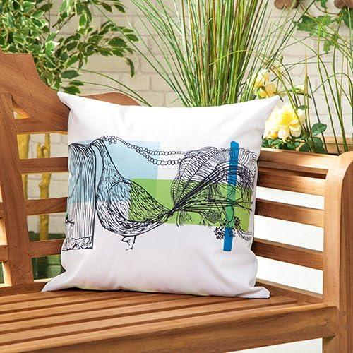 Gardenista Cojín Relleno Resistente al Agua y para Exteriores | Diseño con Patrones Coloridos | Accesorio para Muebles de Jardín| Almohadas Decorativas de | 45 x 45 cm (Peacock): Amazon.es: Jardín