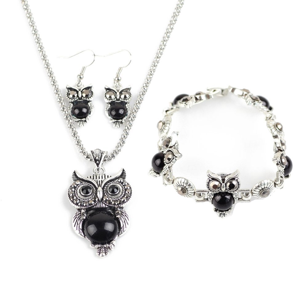 Owl Retro National Style Jewel...