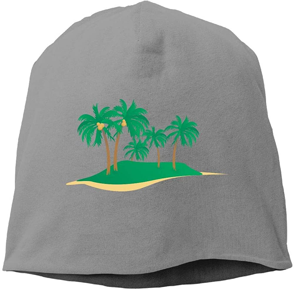 Janeither Headscarf Cool Coconut Tree Hip-Hop Knitted Hat for Mens Womens Fashion Beanie Cap