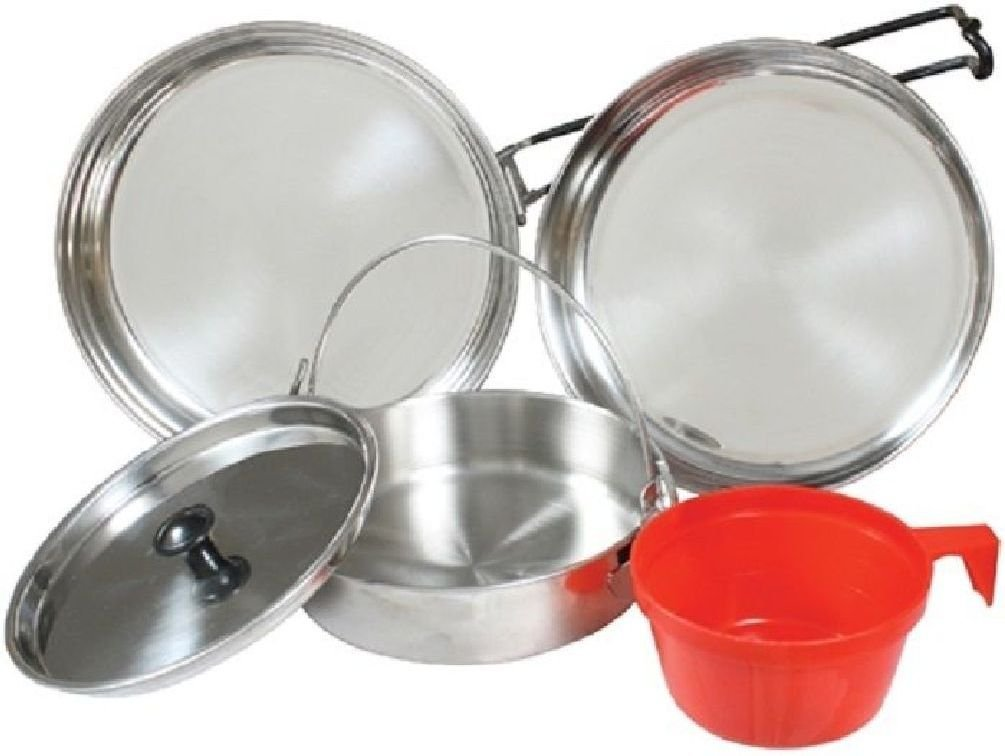 Mess Kit Stainless Steel Military Style 5 Piece Mess Kit