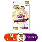 GOO.N Marshmallow Premium Soft Diapers, Medium, 48ct