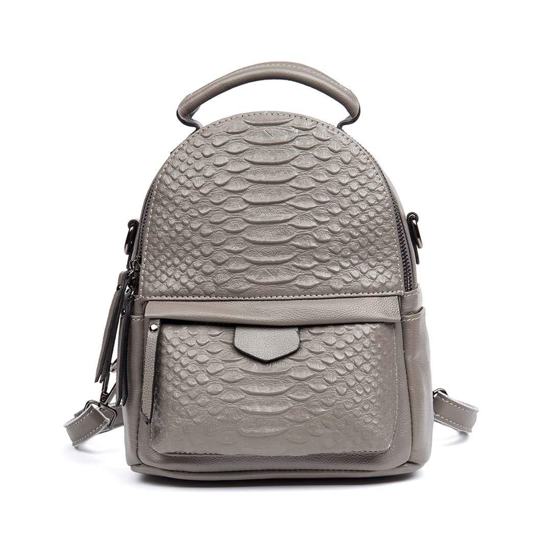 PU の革バックパックの女の子のバックパックの方法バックパックの学校袋の女性のバックパック B07H33LPJY Gray