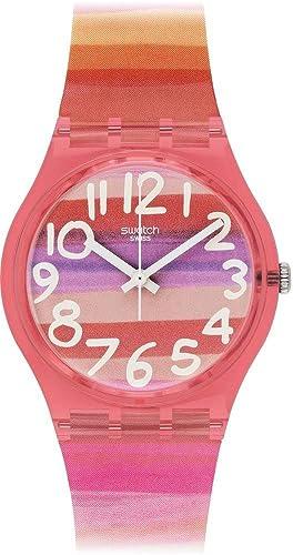 Swatch GP140 ASTILBE - Reloj Analógico de Cuarzo para Mujer con Correa de Plástico: Amazon.es: Relojes
