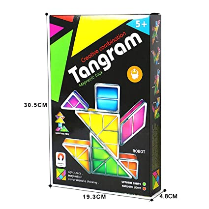 Tetris Light Tangram LED Night Light DIY Puzzle Apilable ...