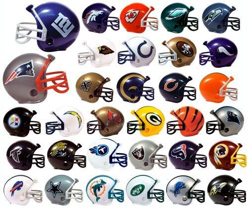 - FOOTBALL NFL Mini Helmets (32 count) BONUS: 12 MINI FOOTBALL HELMET STICKERS