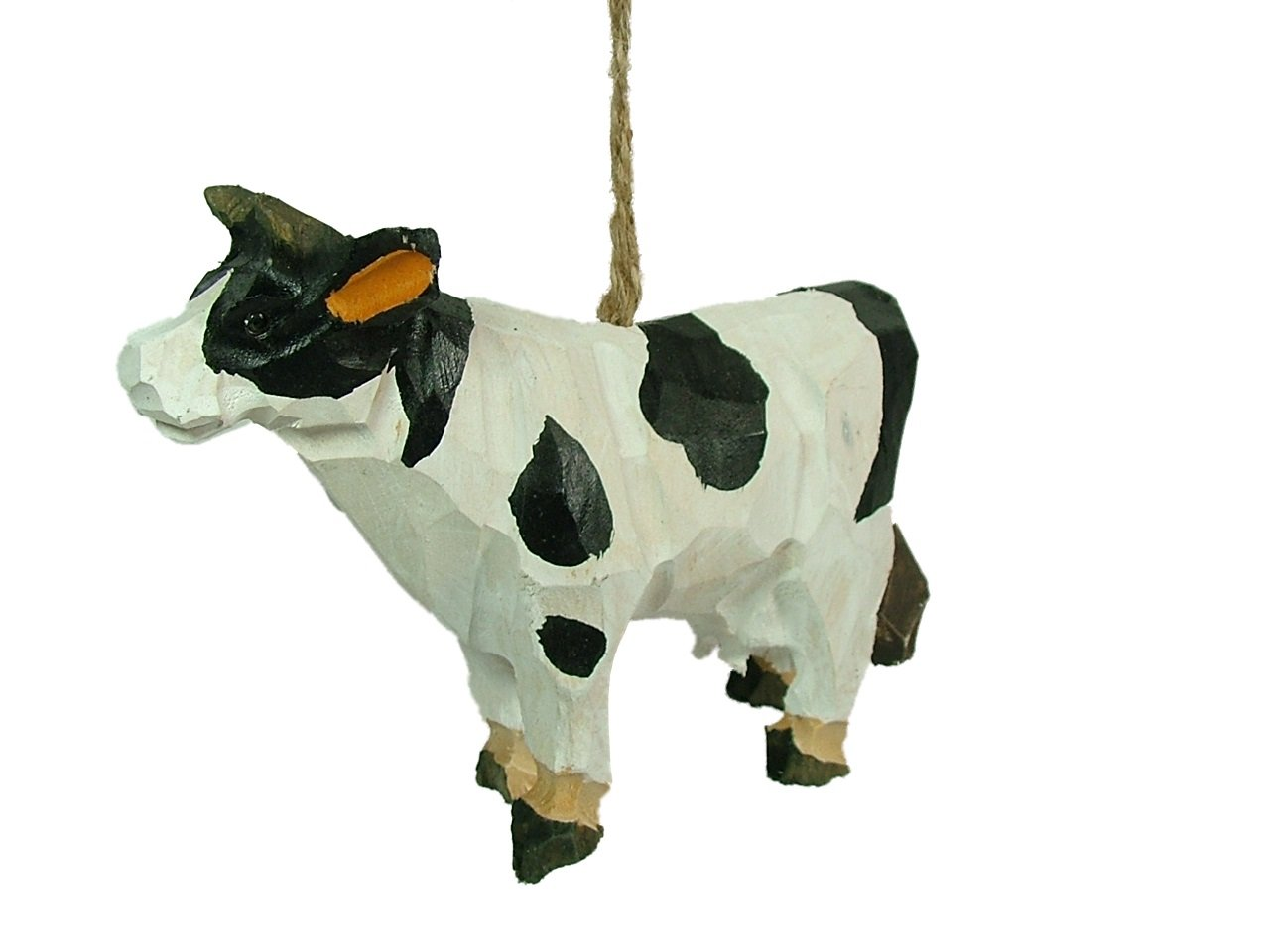 New Carved Wood Cow Baby