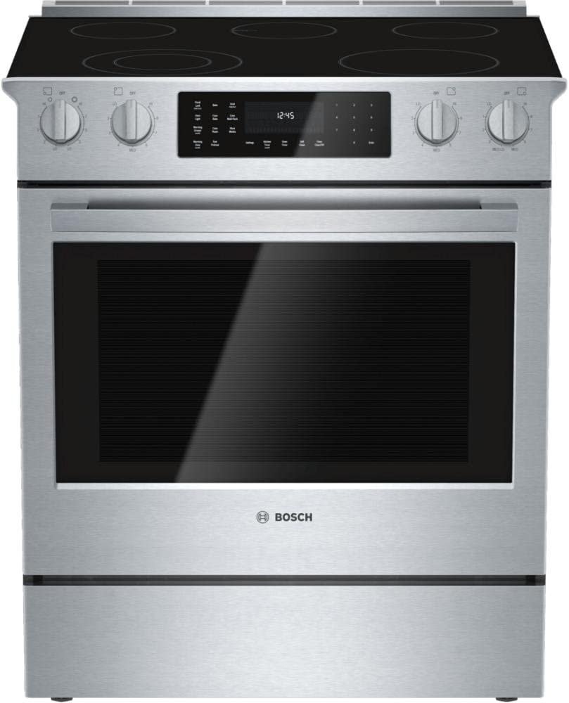 Amazon Com Bosch Hei8054u 800 30 Stainless Steel Electric Slide In Smoothtop Range Convection Appliances
