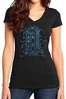 S-XL DOCTOR WHO Tardis Weeping Angels Don/'t Blink Time Lord Ladies JRS T-Shirt