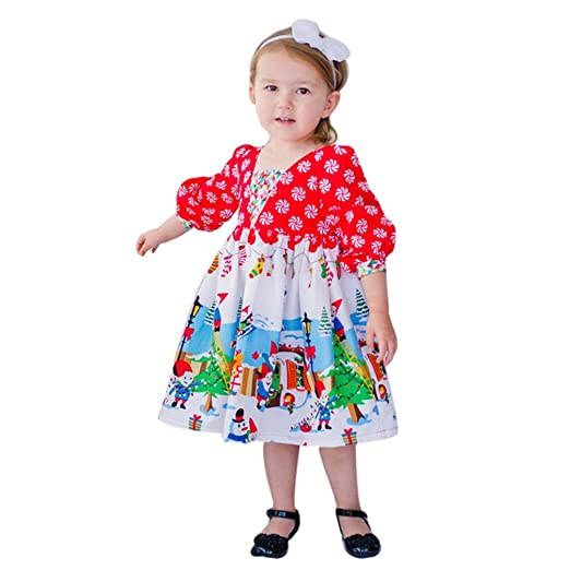 kids christmas costumes sagton toddler baby girls clothes cartoon princess party dress 2t