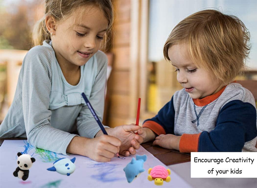 Ranvi 30PCS gomma da cancellare per bambini set di puzzle per bambini festa e materiale scolastico