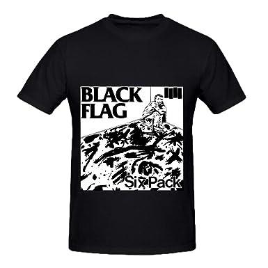 e0cf31651 Black Flag Six Pack Funk Album Cover Men Crew Neck 100 Cotton Tee Shirts  Large: Amazon.co.uk: Clothing