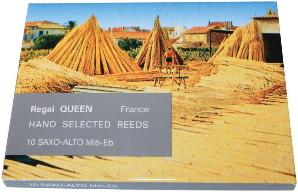 Rigotti Queen Reeds for Alto Saxophone Strength 2.5 Box of 10