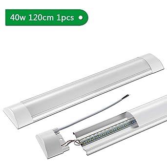 120CM Blanco 4500K LED Luz Pantalla fluorescente Mueble 40W Tubo neutro lamparas Carcasa 4000 led 4800LM integradoSararoom Ultrafino cocina TlJcFK1
