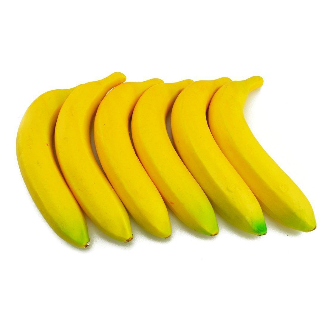 Falso Fruta Hogar Casa Cocina Decoraci/ón Artificial realista simulaci/ón Amarillo Bananas Juego