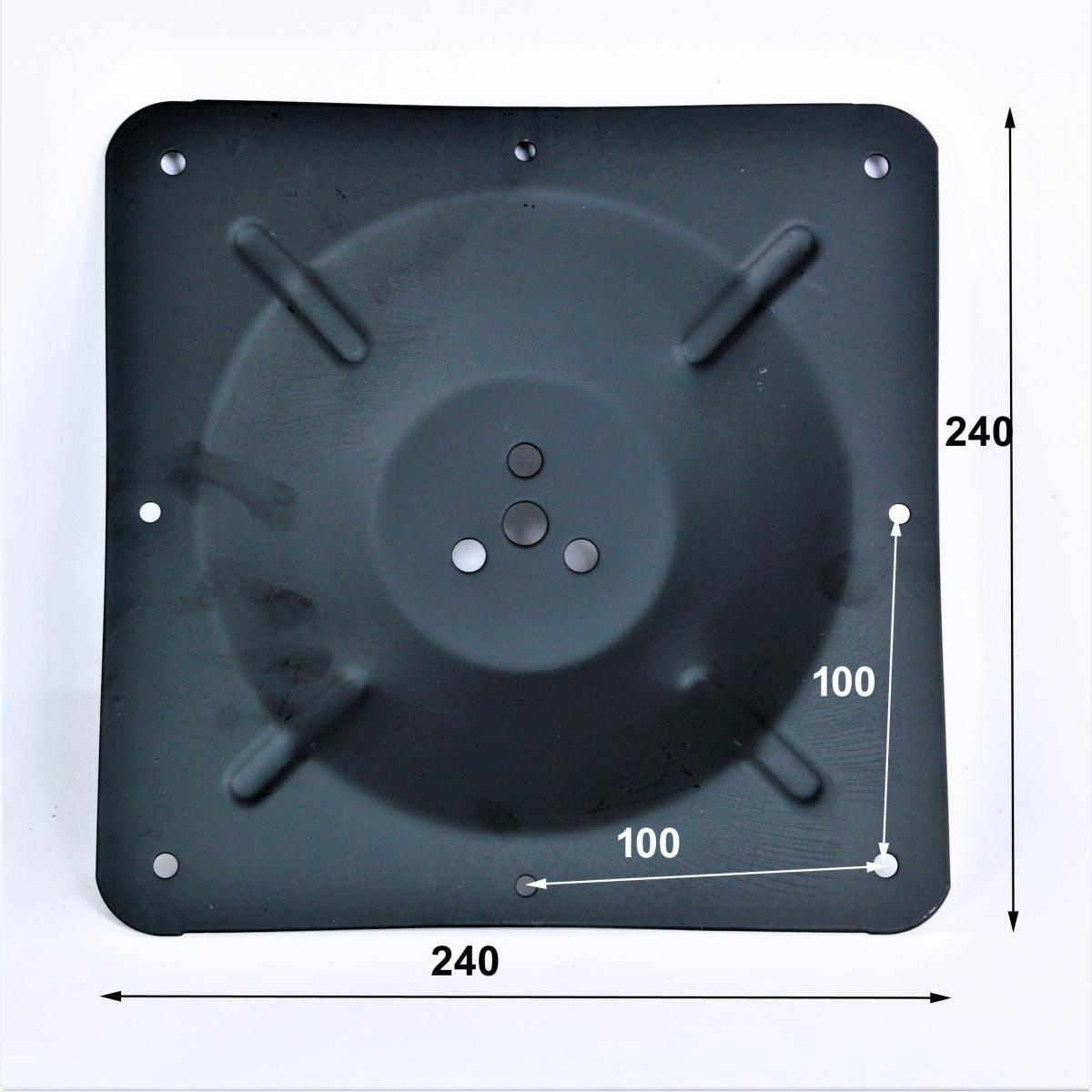 Tischgestell 105 cm eckiger Fu/ßHannover Tischfu/ß Edelstahl schwarzes Gestell