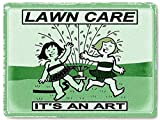 Lawn Care METAL Sign grass seed gardening landscaping business office vintage style wall decor 438