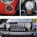 Liquor Car New For Jeep Wrangler JK 2007-2015 2008 2009 2010 2011 2012 2013 2014 Chrome Color Front Turn Signal Light Covers Ring Molding Trim
