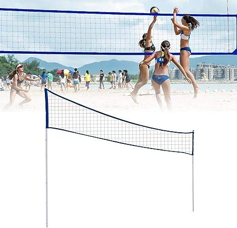 Faltbares Verstellbar Federballnetz Standardgr/ö/ße Volleyballnetz mit Aufbewahrungstasche f/ür Beach Game Indoor Match Rubyu Badminton Netz Tragbares Volleyball Netz