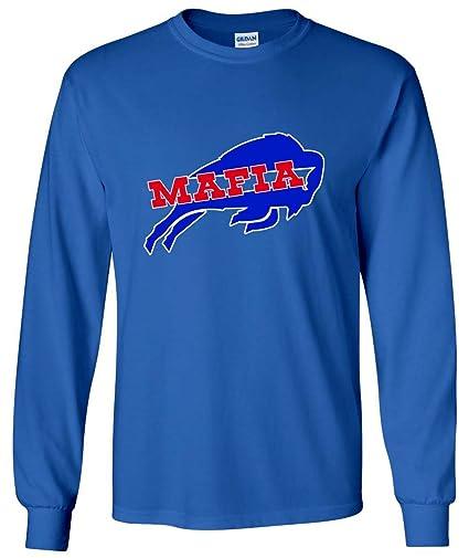 c4eebe71c Amazon.com  The Silo LONG SLEEVE BLUE Bills Mafia T-Shirt  Sports ...