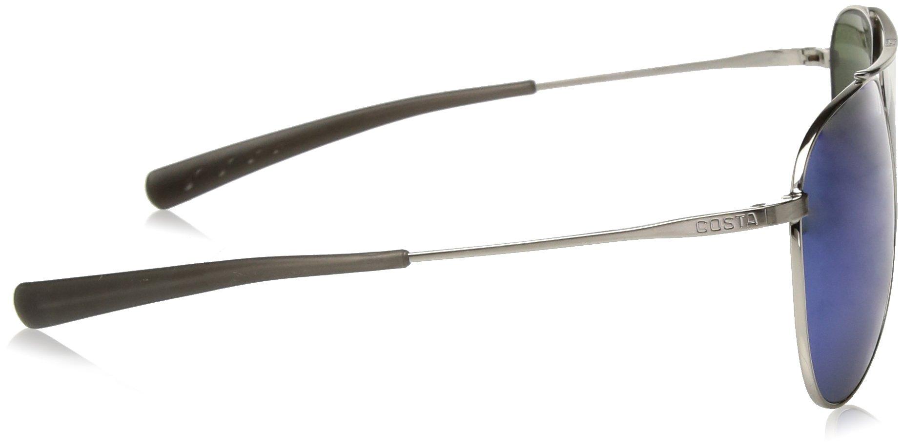 Costa del Mar Cook Polarized Iridium Aviator Sunglasses, Brushed Palladium, 59.7 mm by Costa Del Mar (Image #3)