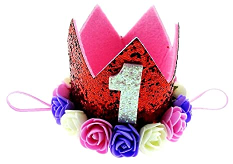 Corona primer cumpleaños 1 año para fiesta infantil niña ...