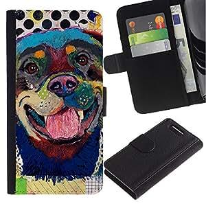 Stuss Case / Funda Carcasa PU de Cuero - Rottweiler Dog Canine Modern Art - Sony Xperia Z3 Compact