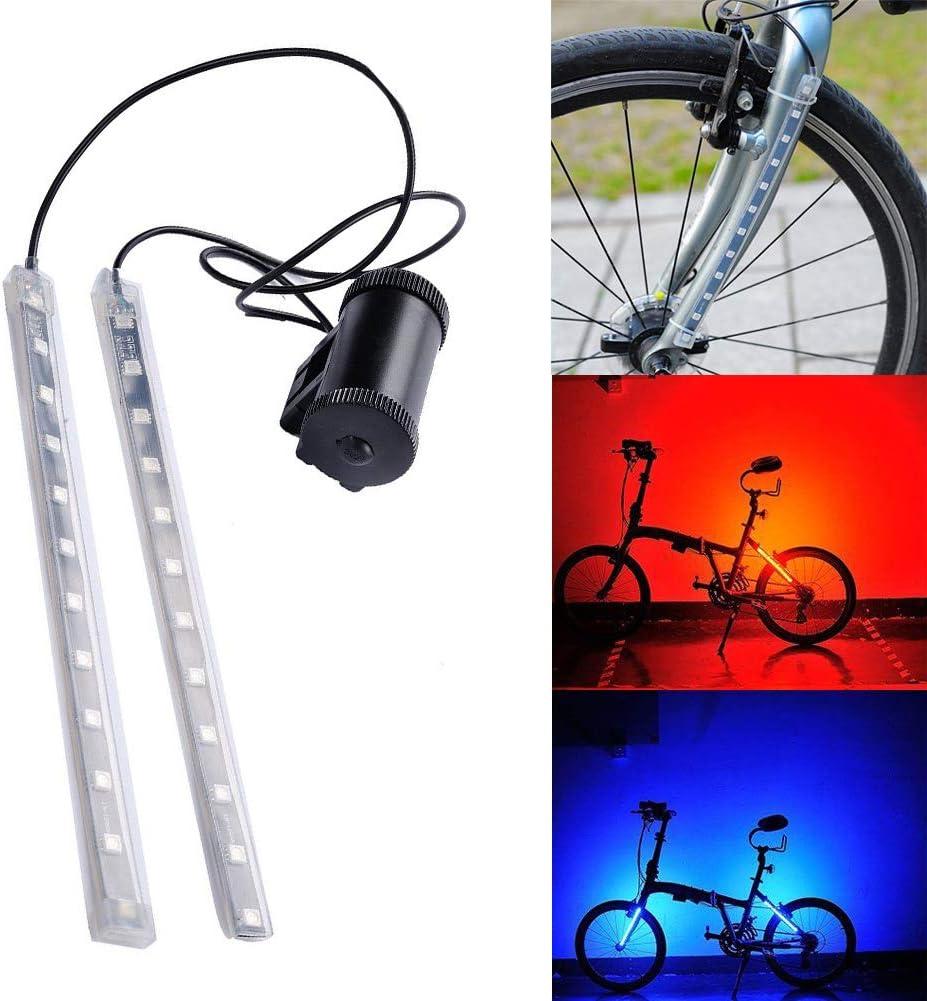 Odea Luz de Advertencia para Bicicleta Delantera y Trasera 12 LED ...