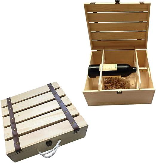 Angela Caja de Embalaje de Botella de champán de Vino de Madera de ...