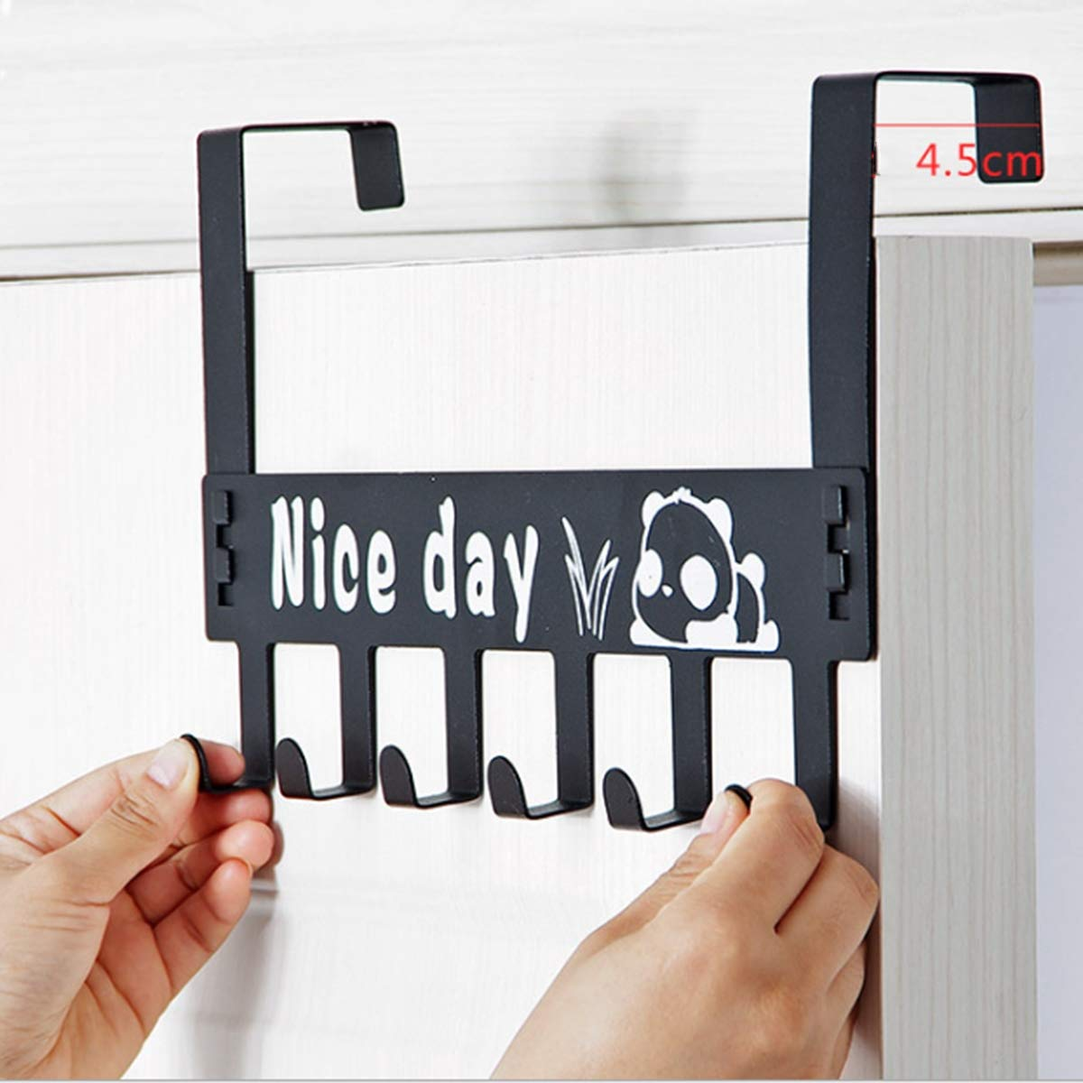 Otartu Over The Door Hooks Steel and Powder Coating,Knock Down and 2 Pack